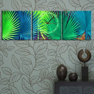 Palm Tree Leaves Modern Wall Art On Quality Canvas Set FRAMED Choice