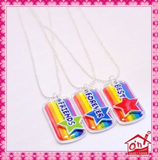 Rainbow FOREVER BEST FRIENDS Necklace Chain Stocking Party Bag Filler