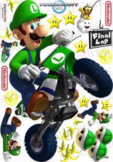 Kart Luigi Kart RePositionable wall Sticker Nintendo Wii MED to HUGE