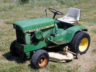 John Deere 140 Tractor Riding Lawn Mower 14 HP Kohler 48 Deck