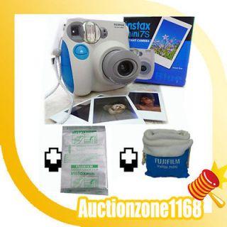 Fuji Instant Instax Mini 7S Polaroid Camera + Film&Case