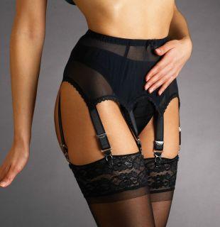 Vintage Style Powermesh Suspender/Garter Belt, 4.6.8.10.12.14 Straps