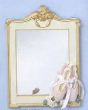 Gold & Cream Ballet Dance Shoes 8 X 10 Wall Mirror #861