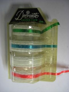 Old 1960s Christmas Gift Wrapping Ribbon DECORETTE Dispenser