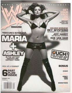 WWE WWF Divas Maria + Ashley female wrestling magazine 11 06