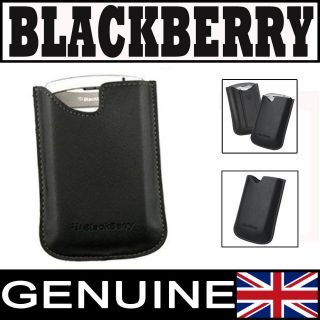 GENUINE EXCLUSIVE BLACKBERRY LEATHER CASE /COVER /POCKET /POUCH