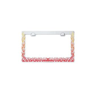 Painted Flames License Plate Frame   Truck Car Hot Rod Trailer