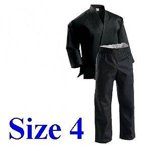 NEW MARTIAL ARTS BLACK UNIFORM KARATE GI FOR ADULT With Free Belt