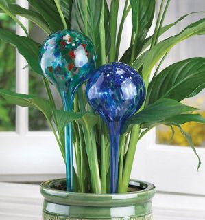 Set 4 Glass Plant Watering Globe Stakes NEW LOT