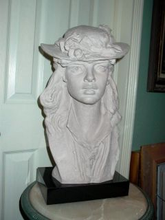 Austin Prod Inc 1979 Sculpture Statue of Lady Wearing Hat