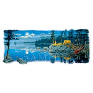 River Night Camping Wood Wild Life Animals Tent Fire Canoe Scenic