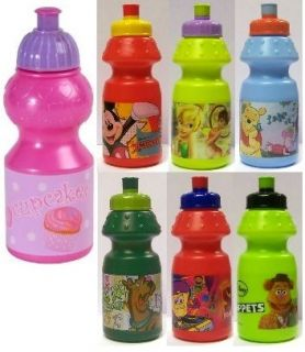 NOVELTY/CHARACTER PLASTIC SPORTS / WATER BOTTLES GREAT GIFT IDEAS