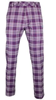 NWT PUMA GOLF PLAID TECH PANTS 32, 34, 36 GLOXINA PURPLE FALL/WINTER