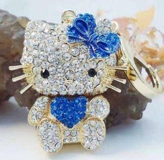 Heart Hot Pink Hello Kitty Fashion Cat Swarovski Crystal Purse Bay