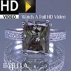 Radiant 14k White Gold Green Quartz Diamonds Ring