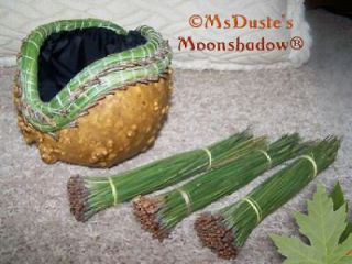 Picked Ponderosa Pine Needles Weaving Gourds Baskets Coasters 4+ OZ