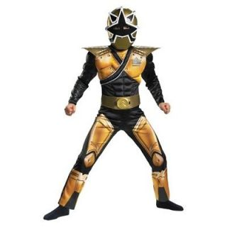 Power Rangers Samurai MEGA Gold Ranger Costume S 4 6 Boys Child Kids