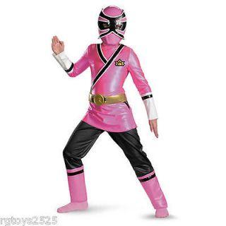 Power Rangers Samurai Pink Ranger Deluxe Costume Size 8 10 M New 8 10