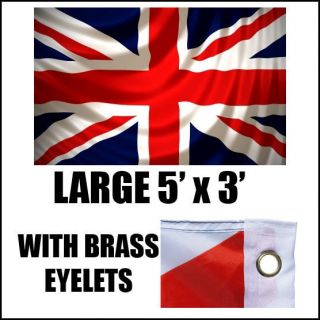 UNION JACK LARGE FLAG GREAT BRITAIN BRITISH SPORT OLYMPICS JUBILEE 5 X