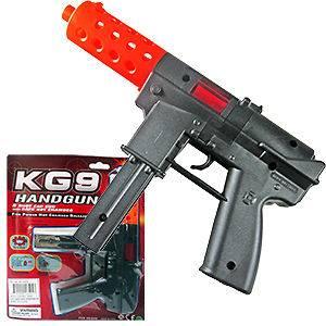 KG9 Style Cap Gun Toy Vintage 8 Ring Caps 8 Shot Fake Machine Gun