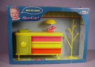 Suzy Cute Doll furniture hard plastic Dresser MIB 1960s for vinyl baby