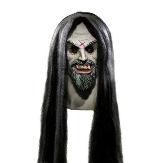 Deluxe Latex Overhead Mask w/Hair Adult Halloween Costume Horror