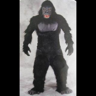 Gorilla Ape Monkey Adult Halloween Costume Mask Gloves Chest Legs