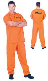 PRISONER CONVICT HALLOWEEN COSTUME Uniform Outfit Adult Men 29436