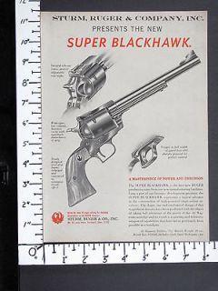 1959 RUGER debut New 44 Magnum SUPER BLACKHAWK S A Revolver magazine