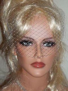 Style Bandeau Bridal Wedding Veil French Net Hair Accessory White NEW