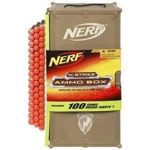 NERF 100 Sonic Micro DARTS + AMMO BOX Maverick Vulcan