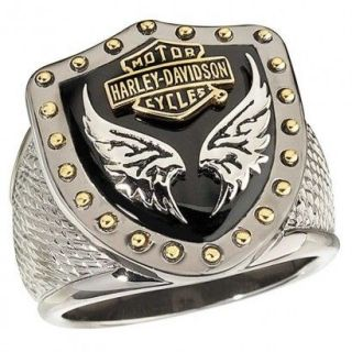 Harley Davidson® Black Knight Mens Ring SZ 11 from the Franklin Mint