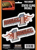 Harley Davidson Static Cling Window Decal