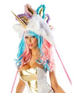 Womens Sexy Deluxe Josie Loves J Valentine Unicorn Hood