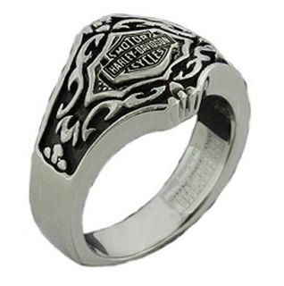 Womens Harley Davidson Gothic Stainless Steel Ring. STR6784