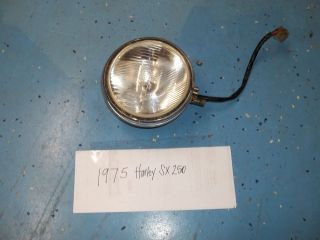 75 AERMACCHI HARLEY DAVIDSON SX 250 HEAD LIGHT ASSEMBLY AMF OEM