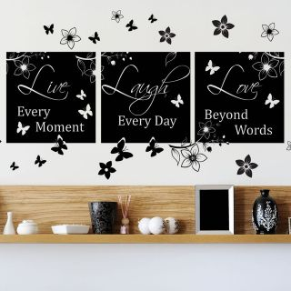 LOVE HOUSE QUOTE WALL ART STICKER, WALL MURAL, WALL DECAL, DIY DECO