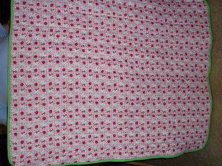 New Handmade Hello Kitty Baby Quilt