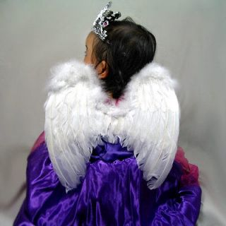 White Feather Angel Wings Halo Small Child Kids HALO halloween cosplay