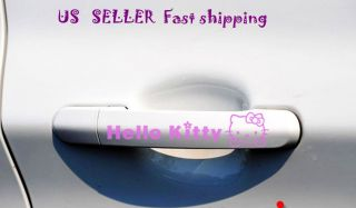2Pcs Hello Kitty Auto Car handle Decor Sticker Decals US Seller