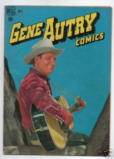 GENE AUTRY COMICS  15  PLAYING GUITAR PHOTO COVER
