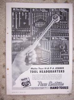1963 New Britain Hand Tools Ad NAPA Socket Wrench n