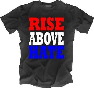 WWE John Cena Hustle HLA RISE ABOVE HATE Black T Shirt all sizes