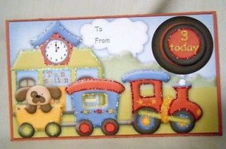 Handmade Greeting Card   3D Train Birthday Money Holder   Child