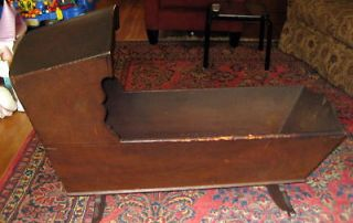 ANTIQUE WOOD BABY CRIB CRADLE 1700S 18C PICKUP ONLY NY