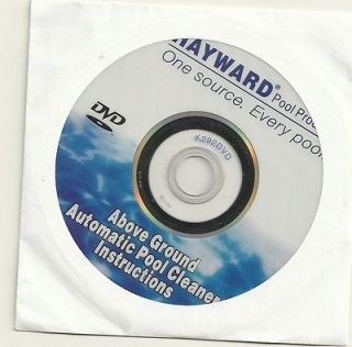 Hayward Above Ground Automatic Pool Cleaner Instruction CD (DISC ONLY)