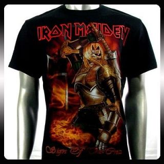 Iron Maiden Heavy Metal Biker Rock Punk T shirt Sz XL Ir8 Rider Men