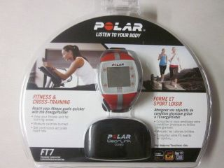 Polar FT7 Heart Rate Monitor, Watch   Red/Silver Fitness & Cross