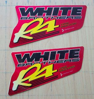 WHITE BROTHERS R4 EXHAUST heat resistant BIKE stickers decals