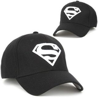 Ball Baseball Cap SUPERMAN BLACK Hat Flex Fit Sports Outdoor Fashion